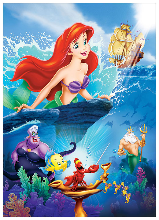 Панорамный постер Little Mermaid / Русалочка